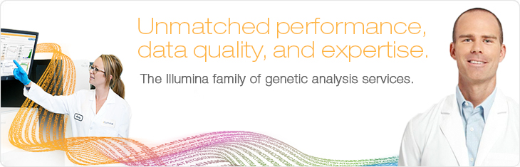 Unmatched performance, data quality, and expertise. The Illumina family of genetic analysis services.