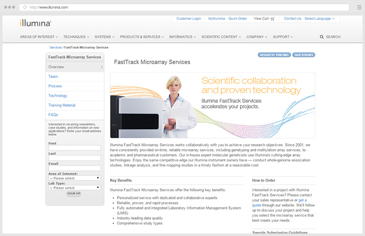 FastTrack Microarray Services
