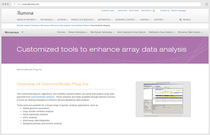Access GenomeStudio Plug-Ins