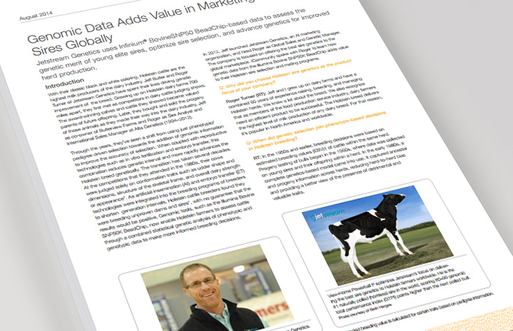 Genomic Data Adds Value in Marketing Holstein Sires Globally