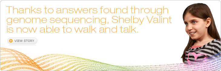 Thanks to answers found through genome sequencing, Shelby Valint is now able to walk and talk.