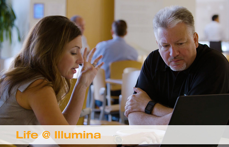 Illumina employees working together
