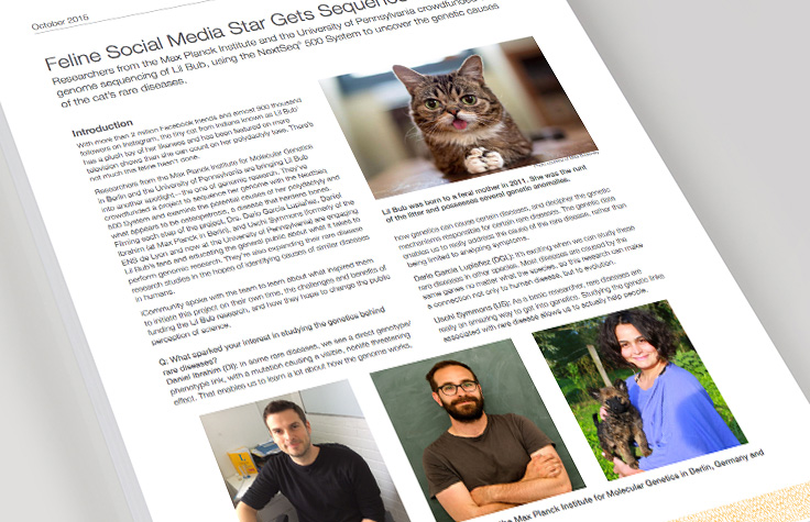 Feline Social Media Star Gets Sequenced