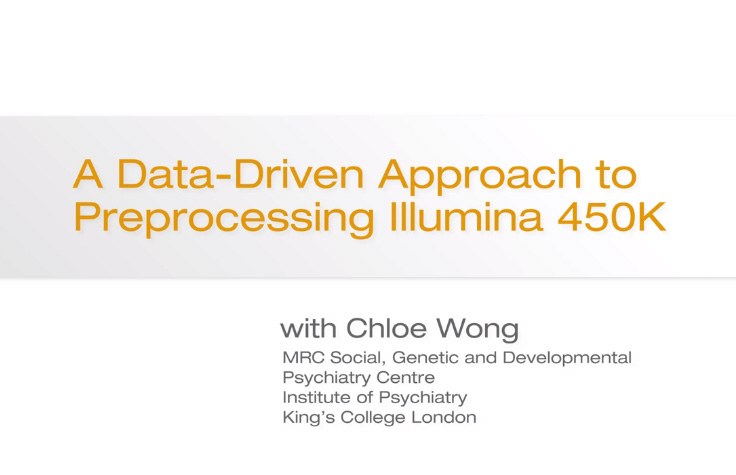 A Data-Driven Approach to Preprocessing Illumina 450K