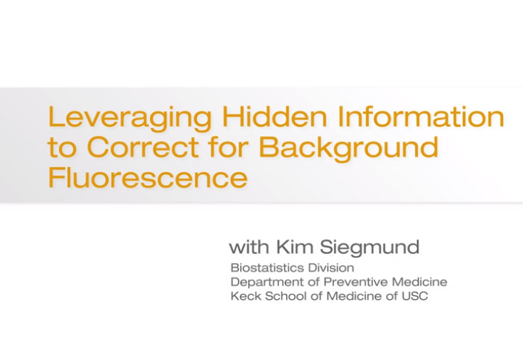 Leveraging Hidden Information to Correct for Background Fluorescence