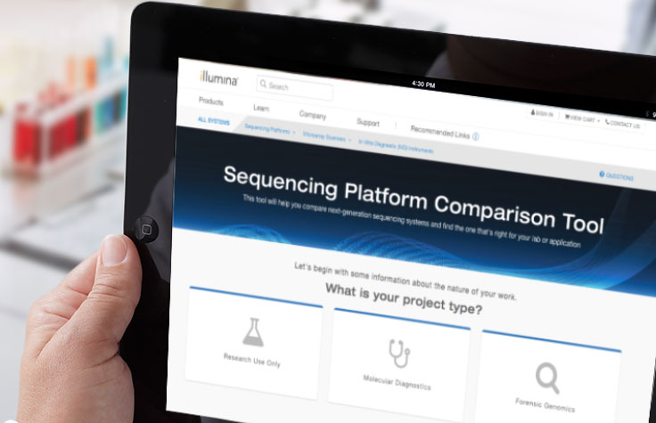 Sequencing Platform Comparison Tool